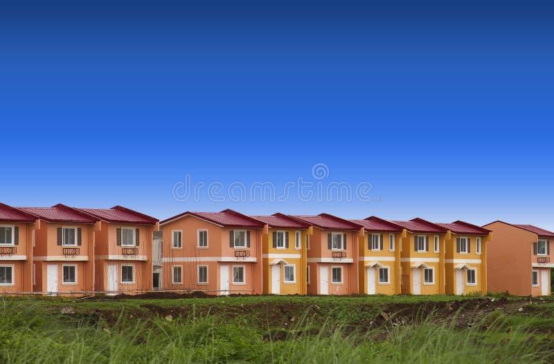 Reihen-Häuser lizenzfreie stockfotos