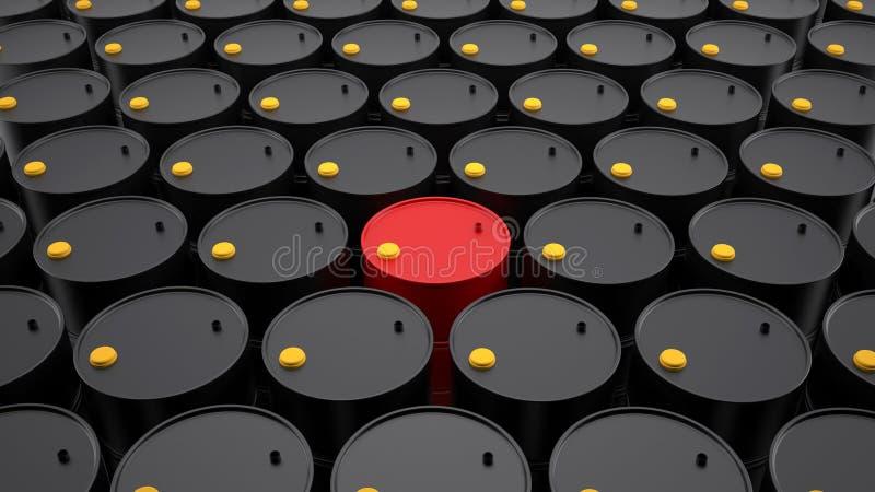 Reihen von Barrel Erdölen lizenzfreie abbildung