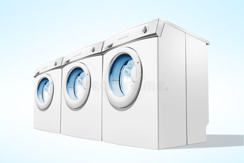 Reihen von Waschmaschinen lizenzfreie stockfotografie