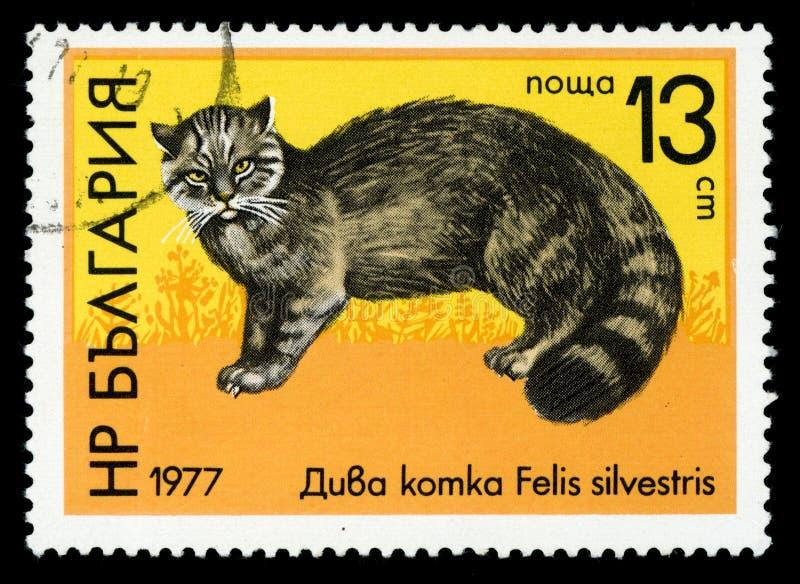 ReihenBriefmarke ` Bulgarien-` wild lebender Tiere, 1977 stockfotos