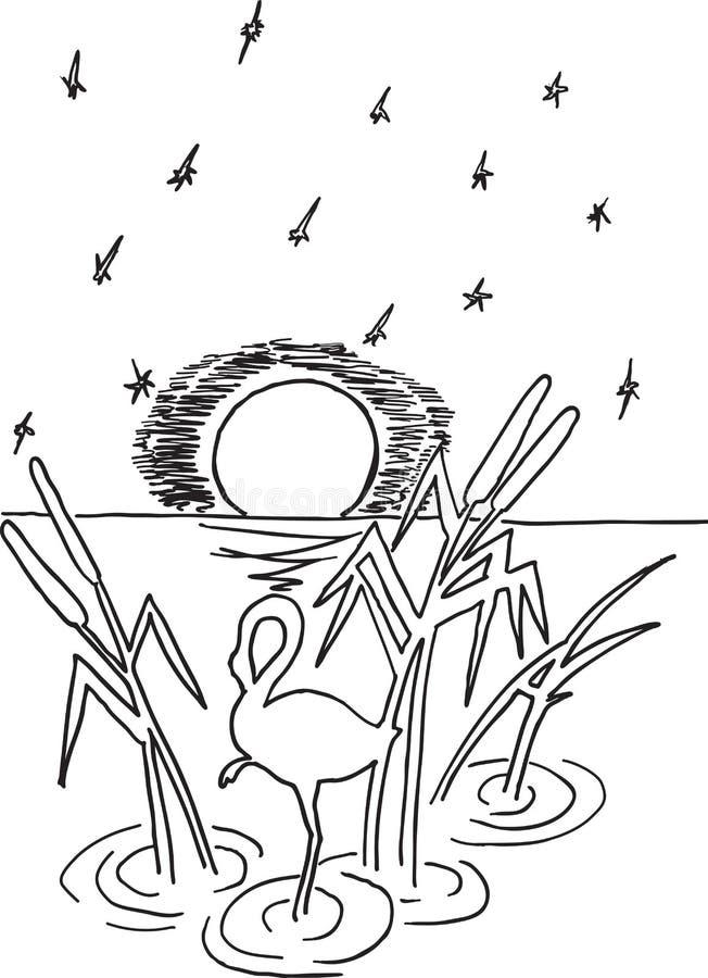 Reiher im Sumpf vektor abbildung