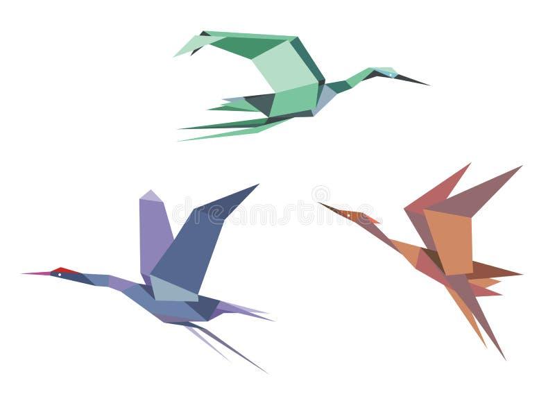 Reiher, Kräne und Störche vektor abbildung