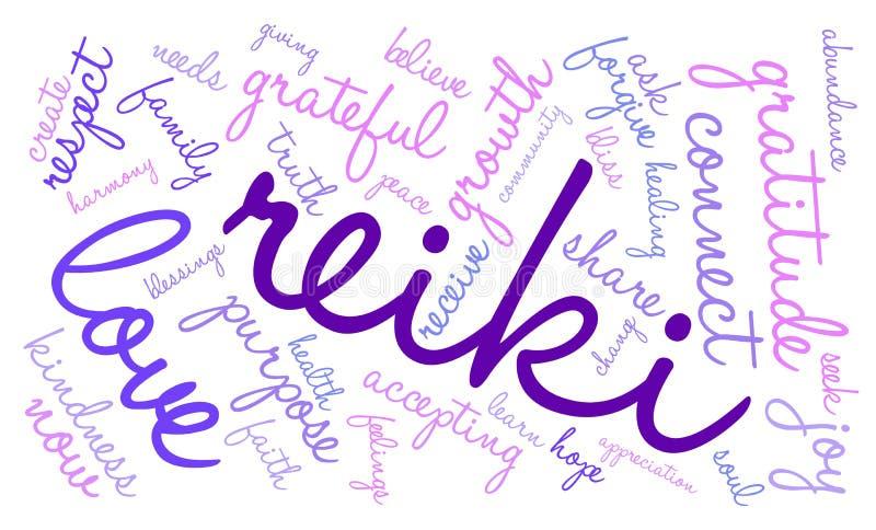 Reiki词云彩 向量例证