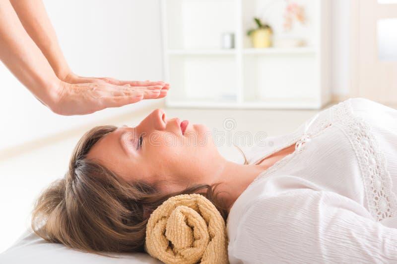 Reiki healing stock photos