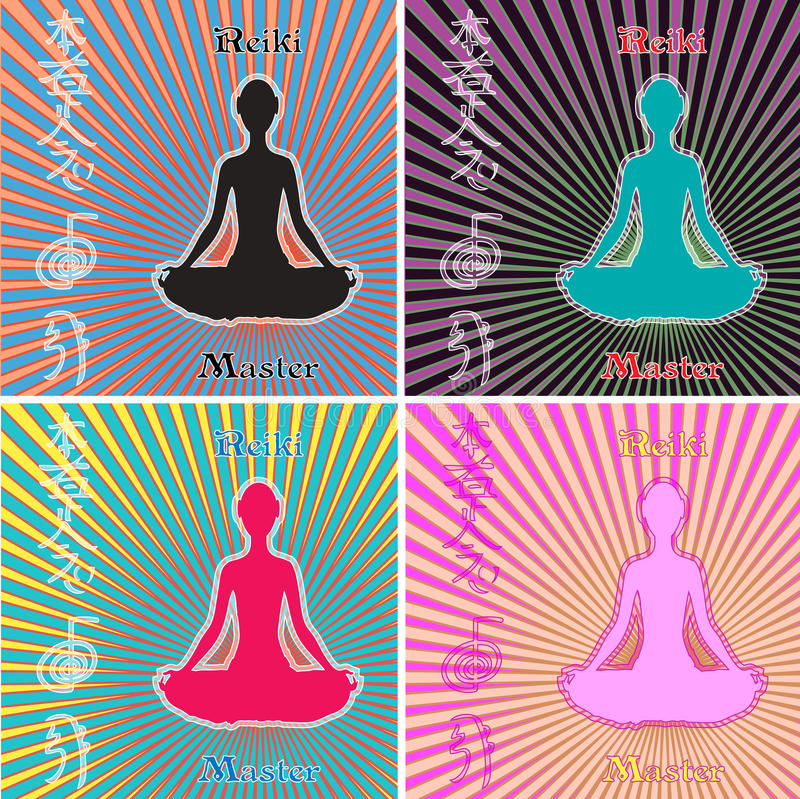Download Reiki Master Set stock illustration. Illustration of spiritual - 22242078