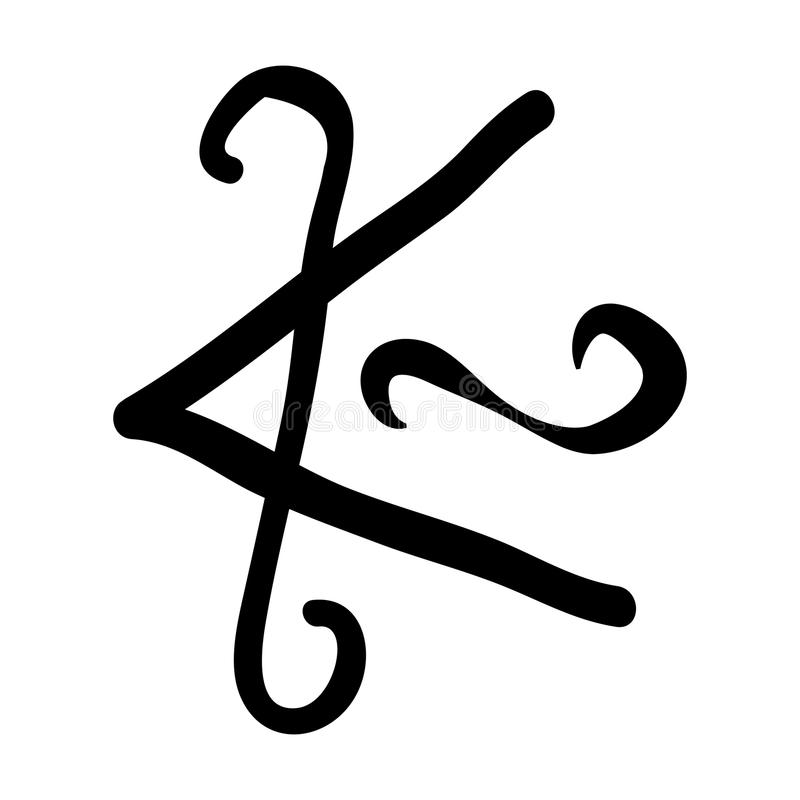 Reiki symbol Shanti vector illustration