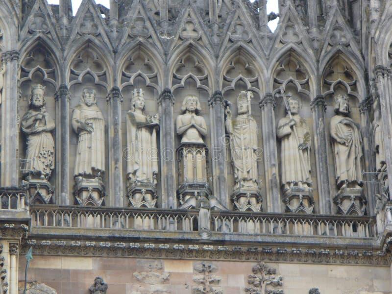 Reims Cathederal, France image libre de droits