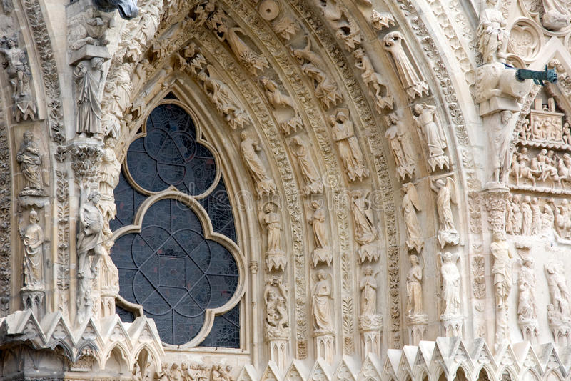 Download Reims Cathedral stock image. Image of church, relief - 11723899