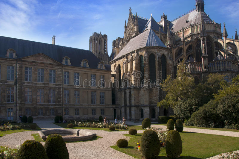 Reims Cathedral, France royalty free stock photography