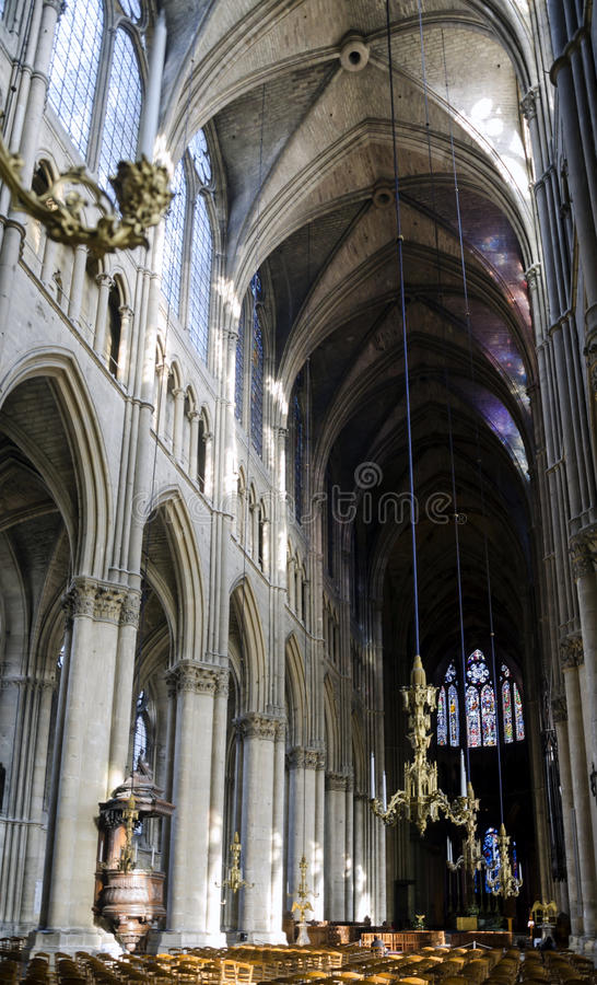 Free Reims Cathedral Interior Stock Images - 63912234