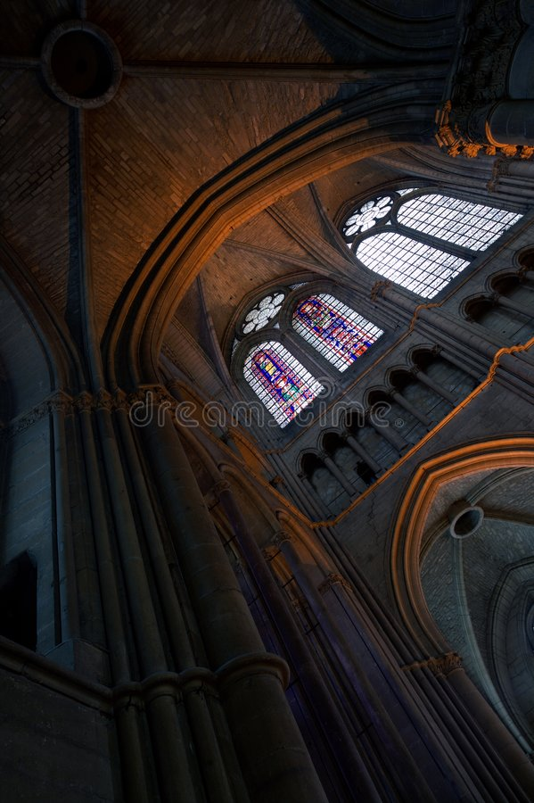 Reims cathedral notre dame royalty free stock images