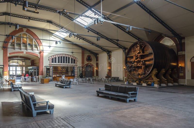 REIMS FRANÇA 2018 AGOSTO: vista do salão da casa do chanpagne de Pommery de Reims Foi fundado como Pommery & Greno em 1858 por um imagem de stock