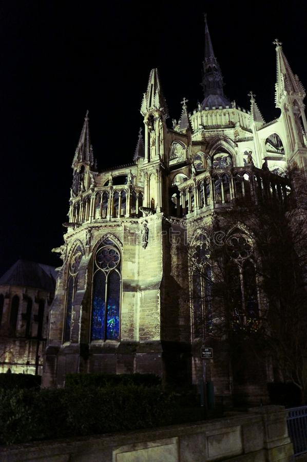 Reims-Kathedrale stockbilder