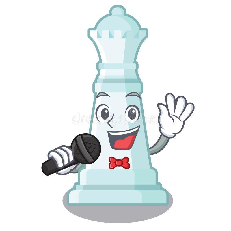 Reina cantante del ajedrez en la forma de la historieta libre illustration