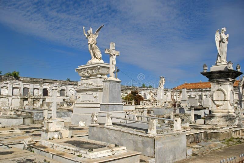 Reina Cemetery, Cienfuegos, Cuba imagen de archivo libre de regalías