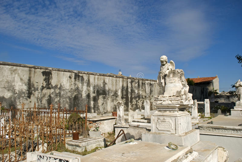 Reina Cemetery, Cienfuegos, Cuba images libres de droits