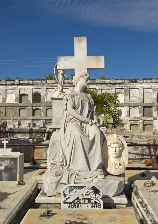 Reina Cemetery, Cienfuegos, Cuba photos stock