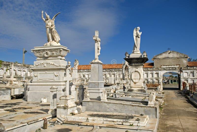 Reina Cemetery, Cienfuegos, Cuba fotos de archivo