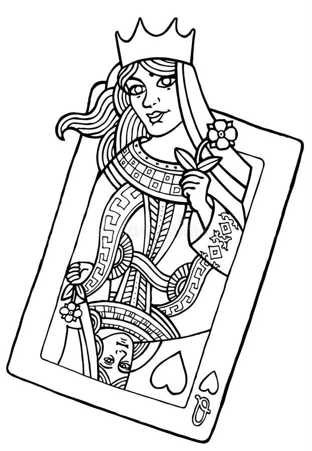 Reina de corazones stock de ilustración