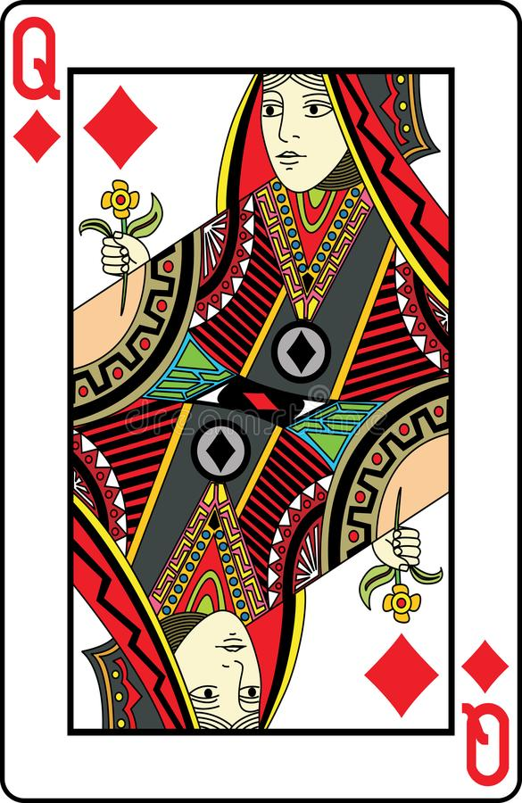 Reina de diamantes ilustración del vector