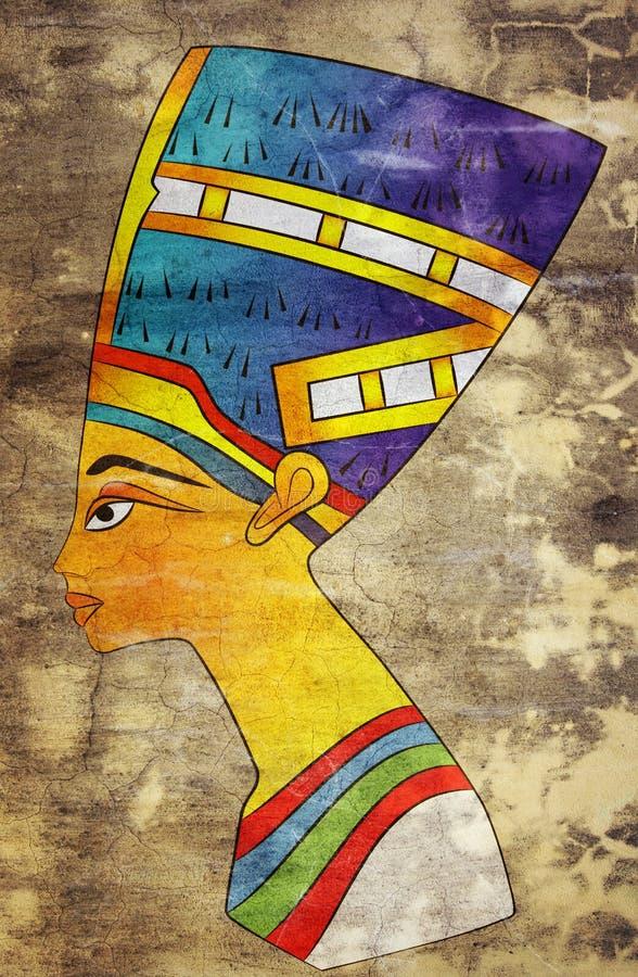 Reina de Egipto antiguo ilustración del vector