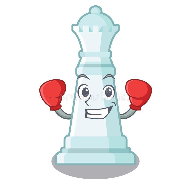 Reina de encajonamiento del ajedrez aislada en el carácter libre illustration