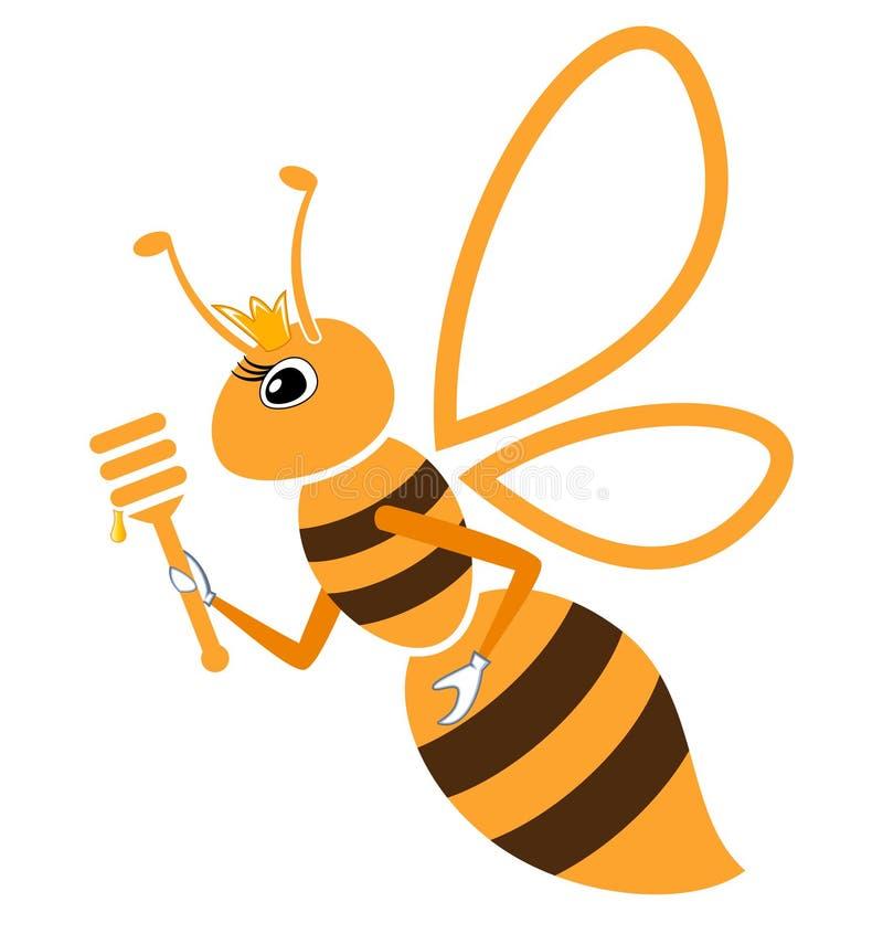 Reina de la abeja stock de ilustración