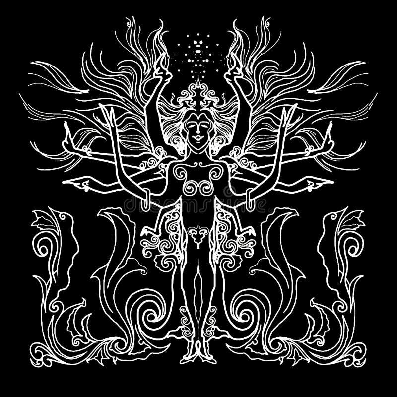 Reina de la esperanza ilustración del vector