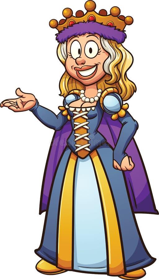 Reina de la historieta ilustración del vector