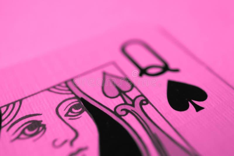 Reina de la macro de las espadas, tarjetas de la adivinación Ritual místico de la tarjeta imagen de archivo