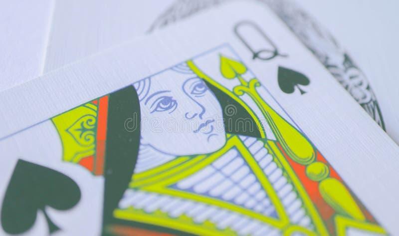 Reina de la macro de las espadas, tarjetas de la adivinación Ritual místico de la tarjeta fotos de archivo