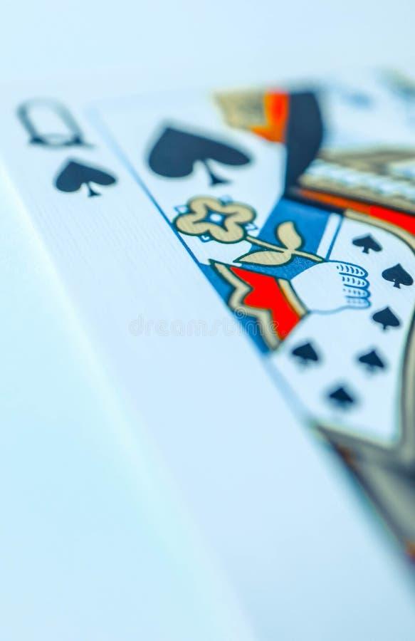 Reina de la macro de las espadas, tarjetas de la adivinación Ritual místico de la tarjeta foto de archivo libre de regalías