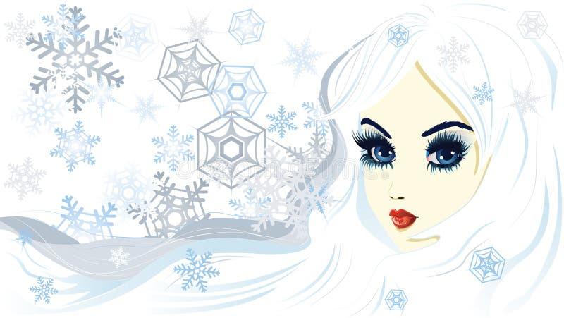 Reina de la nieve stock de ilustración