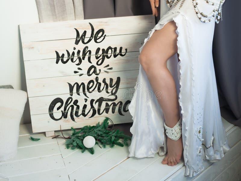 Reina de la nieve de Eductive en un humor festivo fotografía de archivo libre de regalías