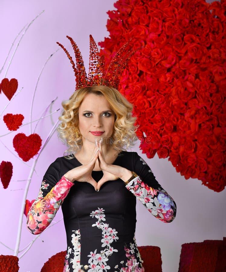 Reina de la tarjeta del día de San Valentín foto de archivo libre de regalías