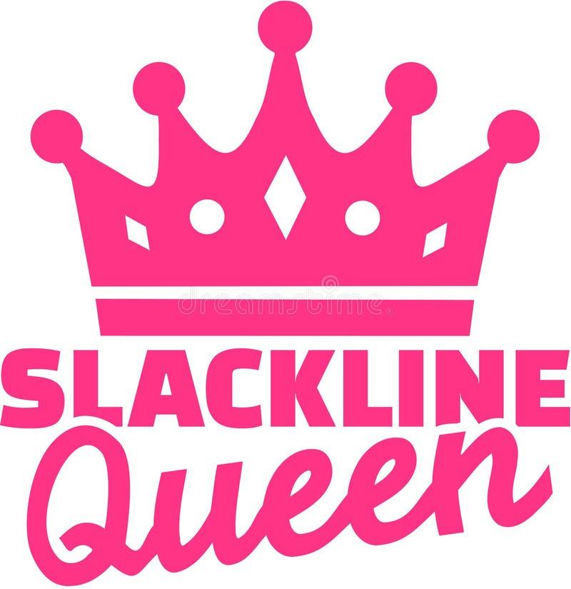 Reina de Slackline con la corona stock de ilustración