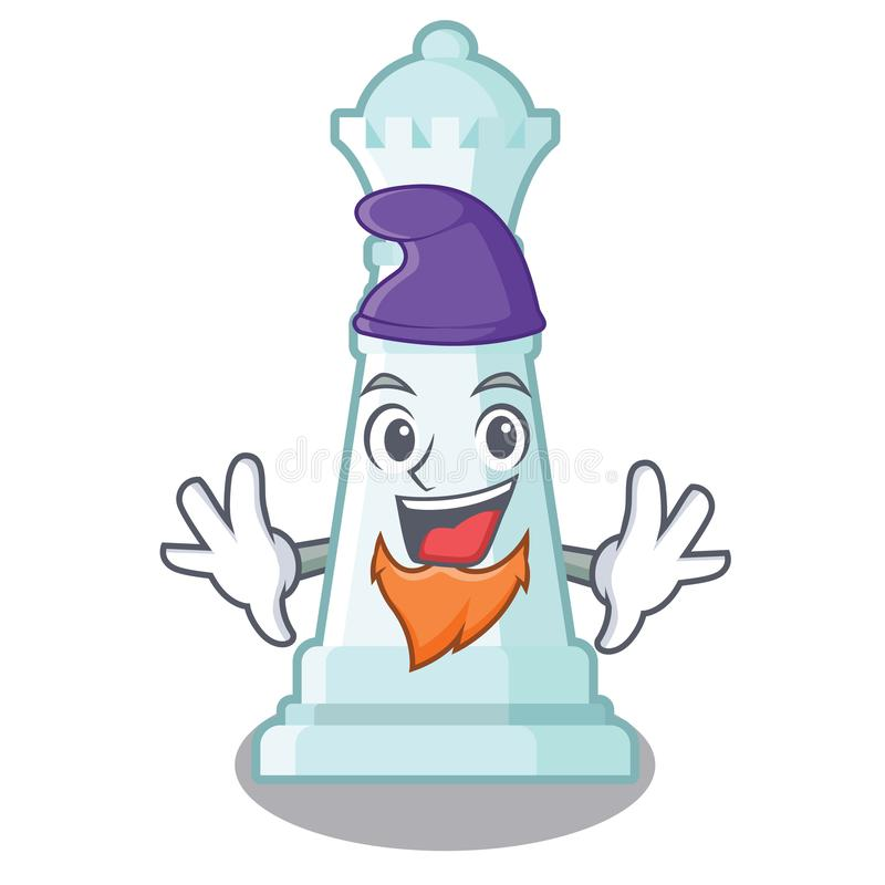 Reina del ajedrez del duende aislada en el carácter libre illustration