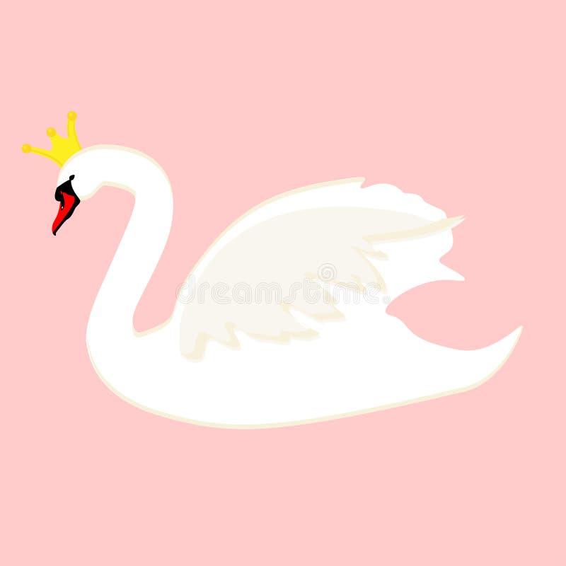 Reina del cisne stock de ilustración