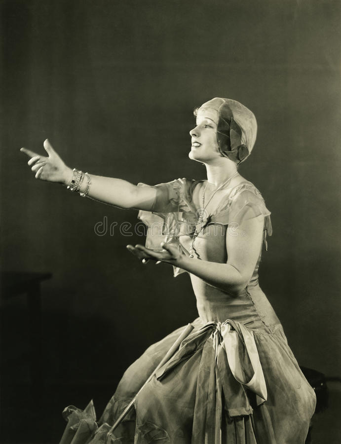 Reina del drama fotografía de archivo