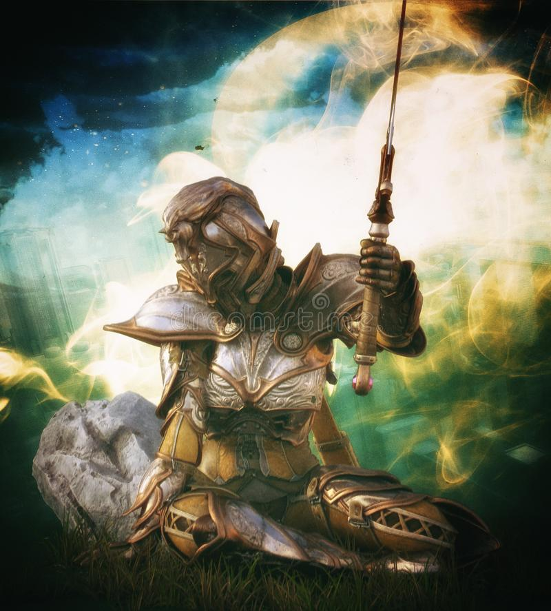 Reina del guerrero con la espada libre illustration