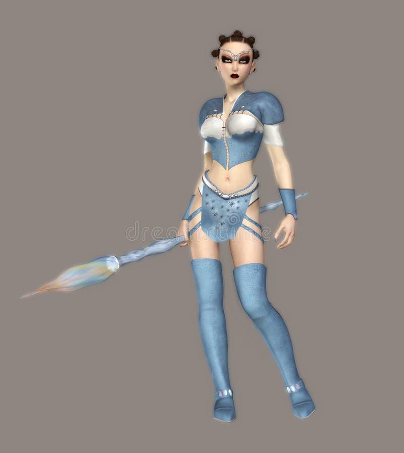 Reina del hielo stock de ilustración
