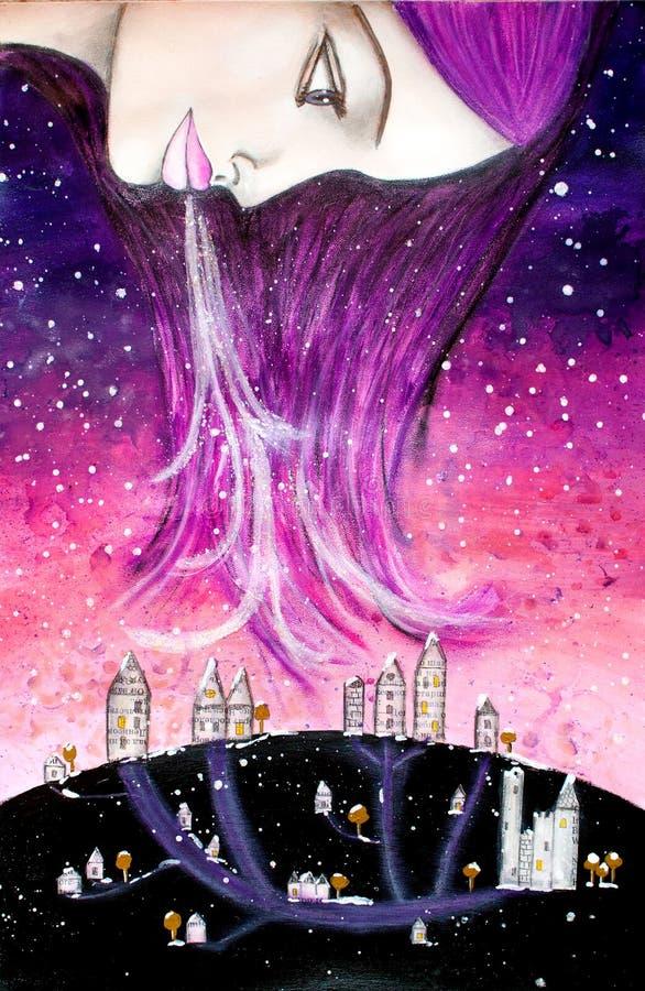 Reina del invierno stock de ilustración