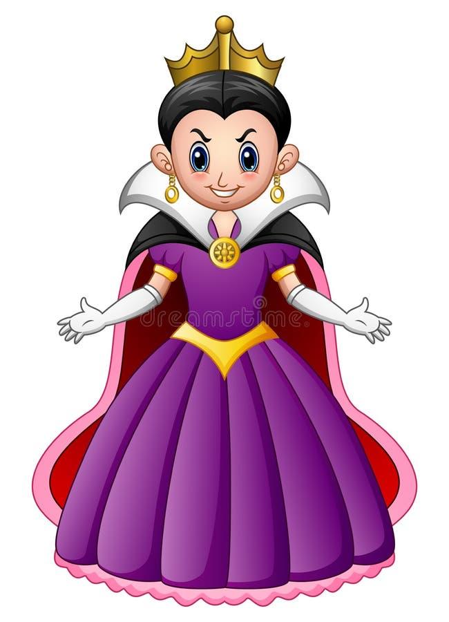 Reina del mal de la historieta stock de ilustración
