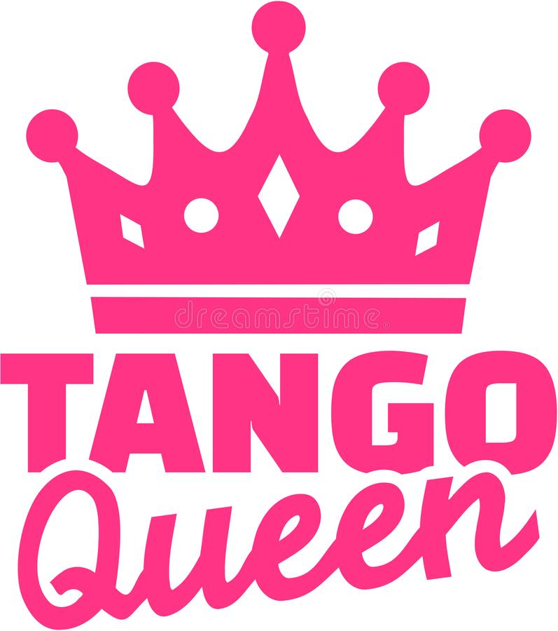 Reina del tango con la corona ilustración del vector