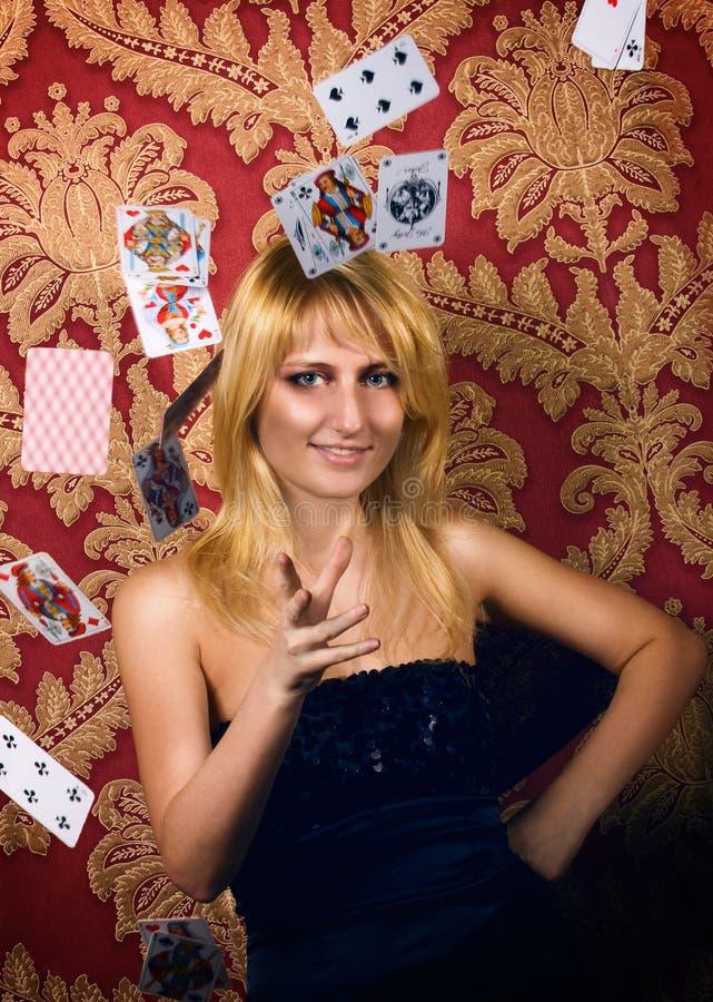 reina del Tarjeta-vector fotografía de archivo libre de regalías
