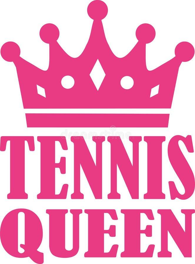 Reina del tenis stock de ilustración