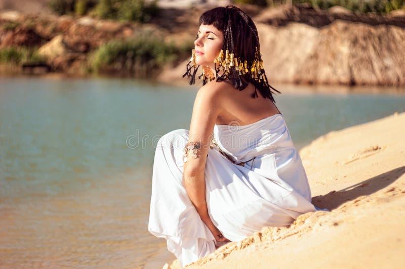 Reina egipcia imagen de archivo