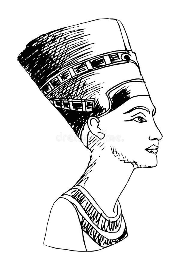 Reina egipcia Nefertiti ilustración del vector