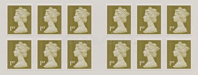 Reina Elizabeth, sello fotografía de archivo