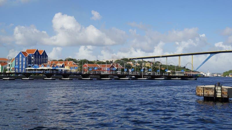 Download Reina Emma Pontoon Bridge En Willemstad, Curaçao Foto editorial - Imagen de edificios, across: 64208621
